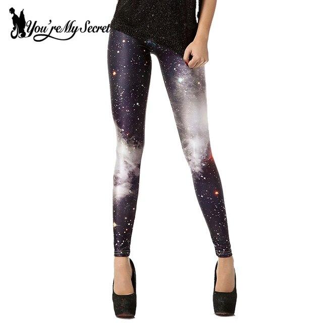 [You're My Secret] Gradient Galaxy Space Printed Leggings Women Leggins Fitness Mujer Soft Elastic Workout Interstellar Pants