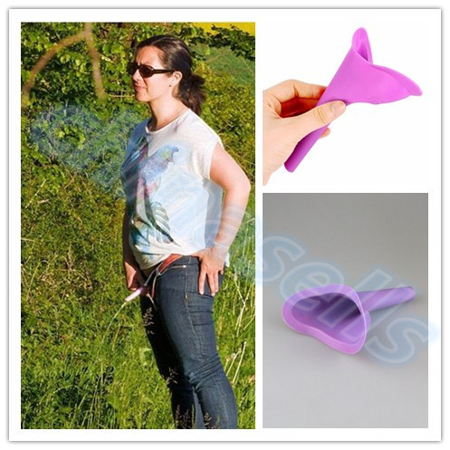 400pcs Women Urinal Travel kit Outdoor Camping Soft Silicone Urination Device Stand Up Pee Female Urinal