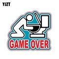 YJZT 14,5 см * 13,1 см игра над бросанием Автомобильная наклейка из ПВХ Светоотражающая наклейка 12-1354