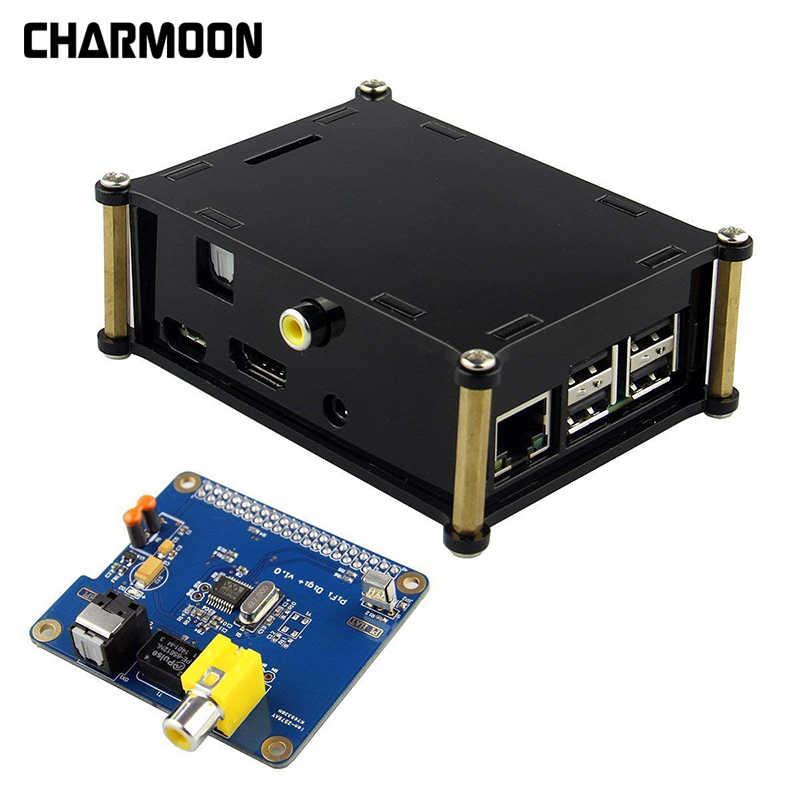 Acrylic Case for Raspberry Pi 3 2 HIFI DiGi Digital Sound Card I2S SPDIF