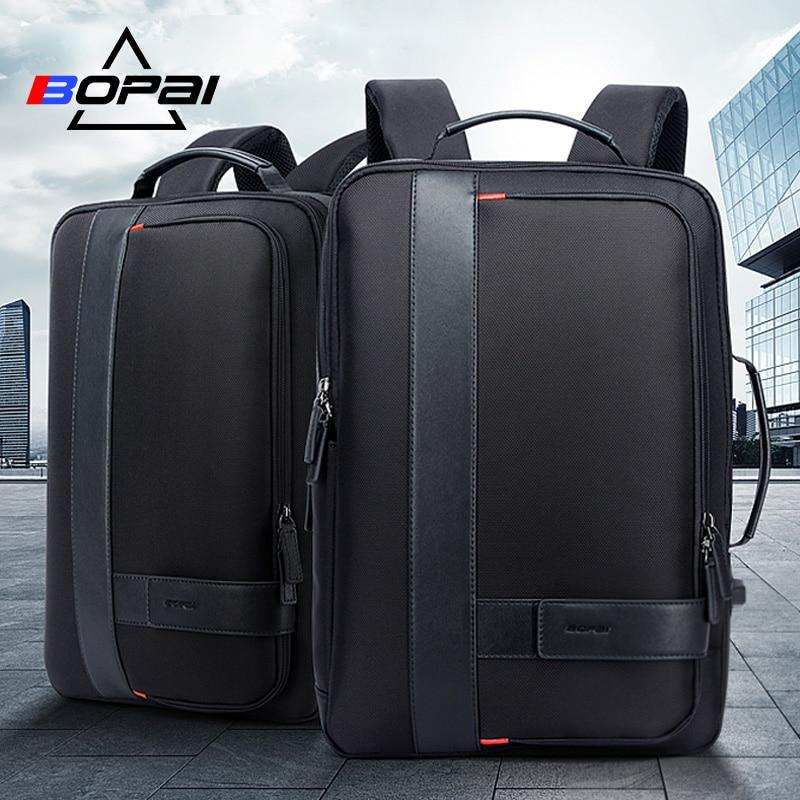Multifunción de carga USB para hombres de 15,6 pulgadas mochilas de ordenador portátil para adolescentes Moda hombre viaje antirobo mochila impermeable-in Mochilas from Maletas y bolsas    1