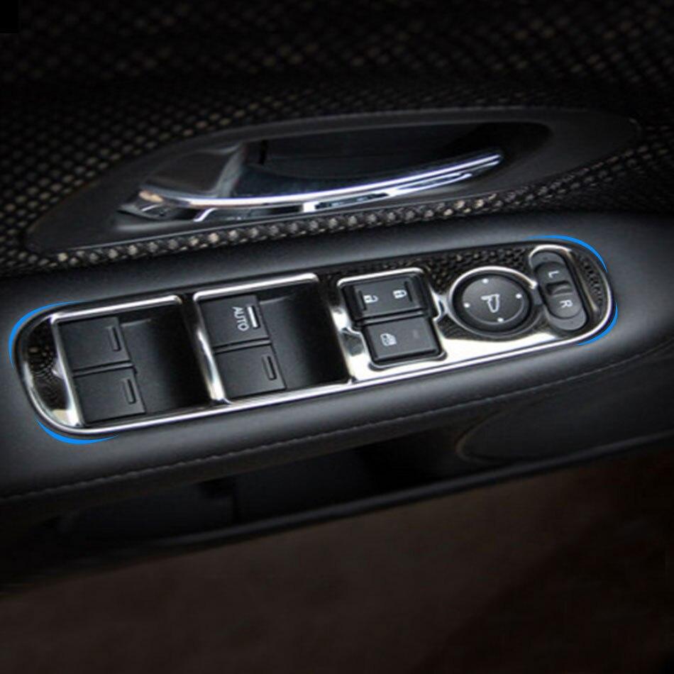 4 Pcs/set Stainless Steel Car Interior Window Lifter Panel Sticker For Honda HRV HR-V VezeL LHD 2014 2015 2016