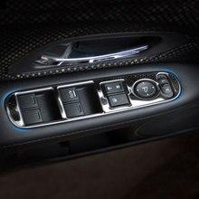 4 Pz/set In Acciaio Inox Car Interior Finestra Sollevatore Pannello Sticker per Honda HRV HR V VezeL LHD 2014 2015 2016