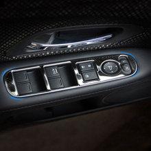 4 adet/takım paslanmaz çelik araba iç pencere kaldırıcı paneli Sticker Honda HRV için HR V VezeL LHD 2014 2015 2016