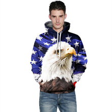 3D Printed eagle Fashion Sweatshirts Long sleeve with hat Five-pointed star Cosplay eagle Men Women Hoodies Animals Sweatshirts