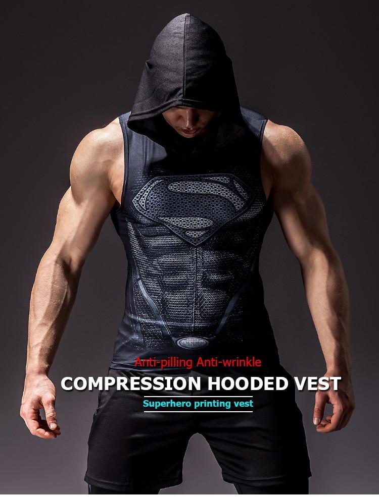 Men's Superhero 3D Printed Tank Top 8