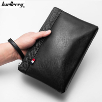 Large capacity Purse Genuine Leather Men Wallets Coin Pocket Zipper Leather Wallet with Coin High Quality Male Clutch cartera