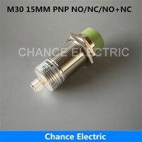 Sensörü Konnektörü M30 YARıM SETLERI NO NC NO + NC 4 IĞNELER PNP algılama mesafesi 15 MM Yakınlık Sensörü Anahtarı