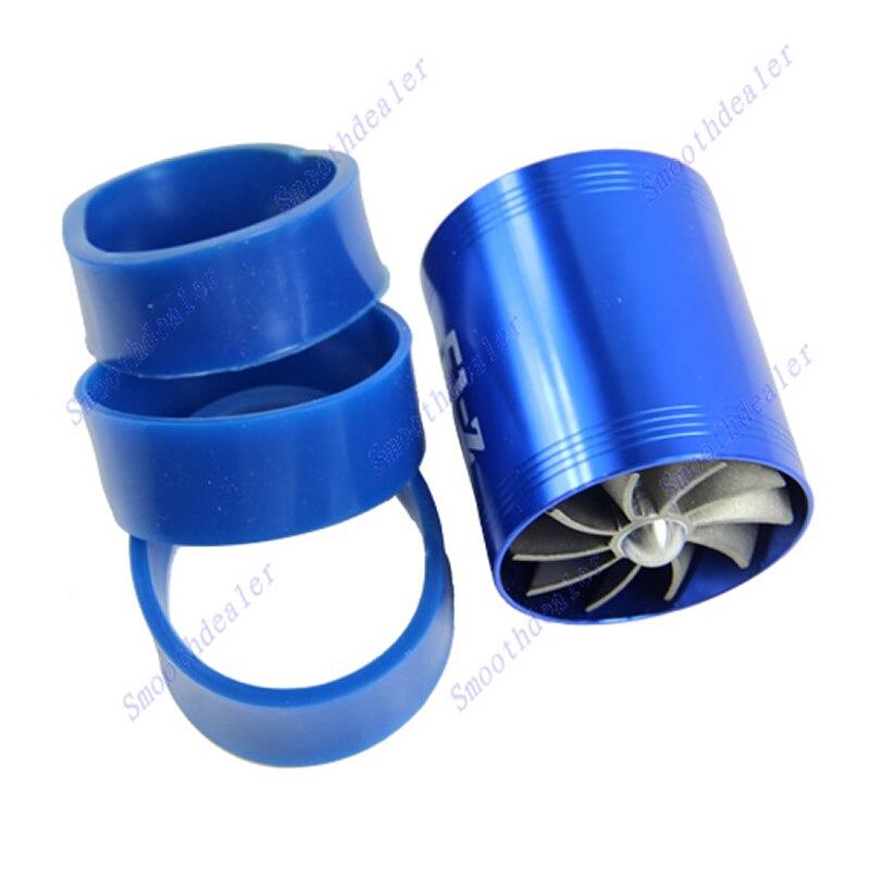 Fan Air Intake Supercharger Turbo Fuel Gas Saver Fan Blue DOUBLE F1-Z
