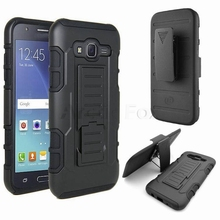 3 in 1 Armor Case for Samsung GALAXY J7 2015 J700H J700F J700 SM-J700F Case Full Protective Stand Cover and Belt Clip Back Cover