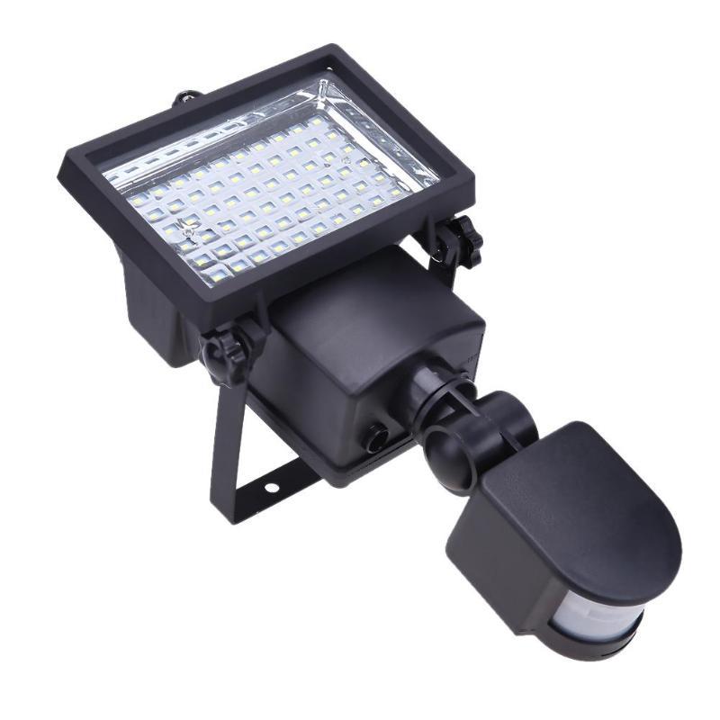 Открытый Солнечный Светодиодный отражатель света 60 светодиодный s с движения PIR Сенсор прожекторы Post фонтан вне бра