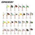 DAGEZI Metal Sequins Fishing Lure Set 30pcs/10pcs  Spoon Lure Spinner Bait Fishing Tackle Hard Bait Spinner Bait Pesca