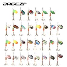 DAGEZI Metal Sequins Fishing Lure Set 30pcs/10pcs  Spoon Lure Spinner Bait Fishing Tackle Hard Bait Spinner Bait Pesca hot 30pcs lot spinners fishing lure mixed color size weight metal spoon lures hard bait fishing tackle free shipping atificial