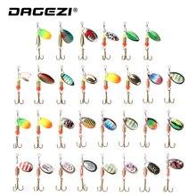 DAGEZI Metallic Sequins Fishing Lure Set 30pcs/10pcs  Spoon Lure Spinner Bait Fishing Deal with Onerous Bait Spinner Bait Pesca