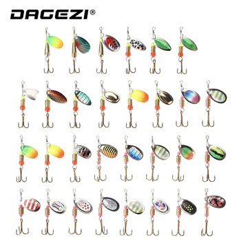 DAGEZI Metal Sequins Fishing Lure Set 30pcs/10pcs  Spoon Lure Spinner Bait Fishing Tackle Hard Bait Spinner Bait Pesca fishing bait fish lure hook twist spoon crankbaits spinner accessory tool tackle 20 12