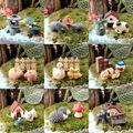 Set Of 3x Animal 2017 Top Selling DIY Fairy Garden Ornament Miniature Resin Figurine Craft Plant Pot Decor AL3310
