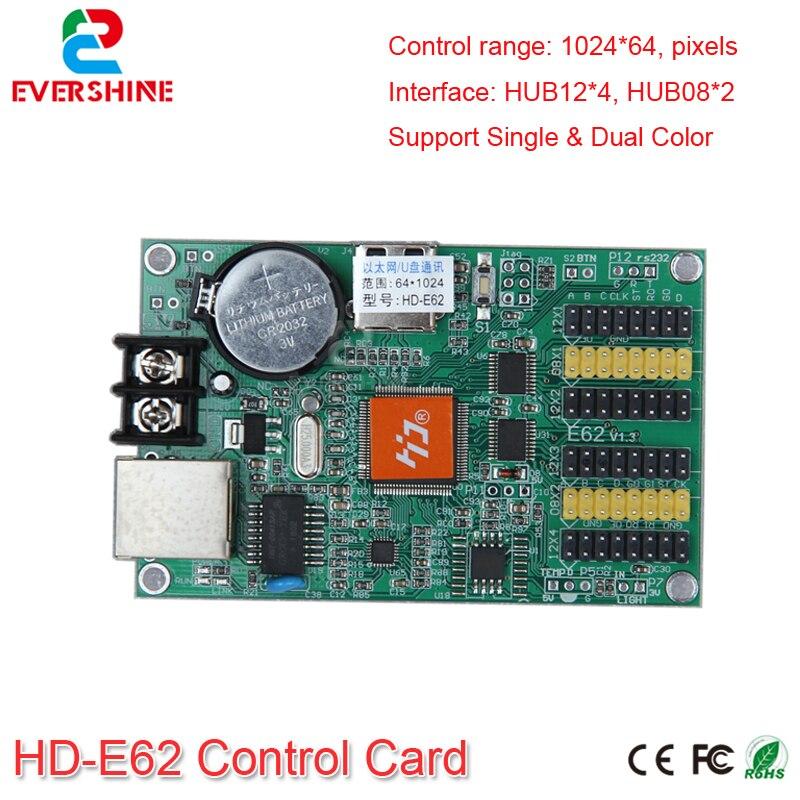 E62 HD-E62 LED Display Screen Controller Single&Double Color LED Controller Card