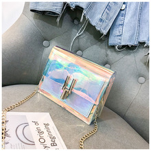 Crossbody Bags for Women 2019 Laser Transparent Bags Fashion Women Korean Style Shoulder Bag Messenger PVC Waterproof Beach Bag fashion neutral laser beach bag classic style messenger crossbody bag chest bag p dropship