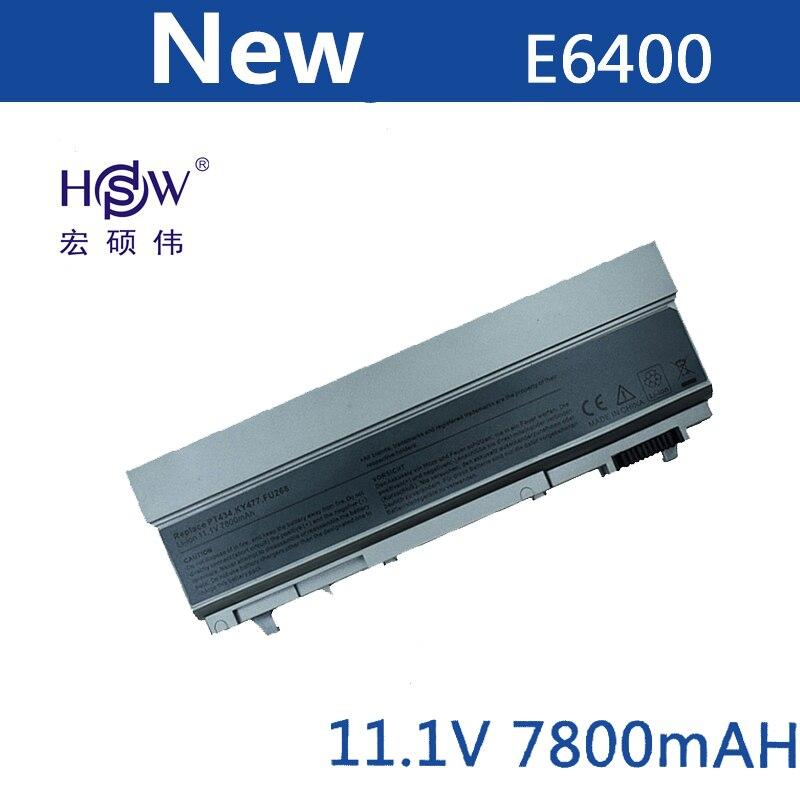 A HSW 9 Bateria Do Portátil celular Para Dell Latitude E6400 E6410 E6500 E6510 M2400/M4400 PT434 PT435 PT436 PT437 PT644 PT650 PT653 U844G