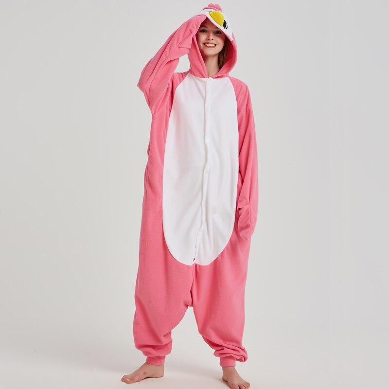 Teenagers Pink Onesies Adult Pajamas Penguin Polar Fleece Kigurumi For Halloween One-piece Jumpsuit Pijama Cosplay Parties (6)