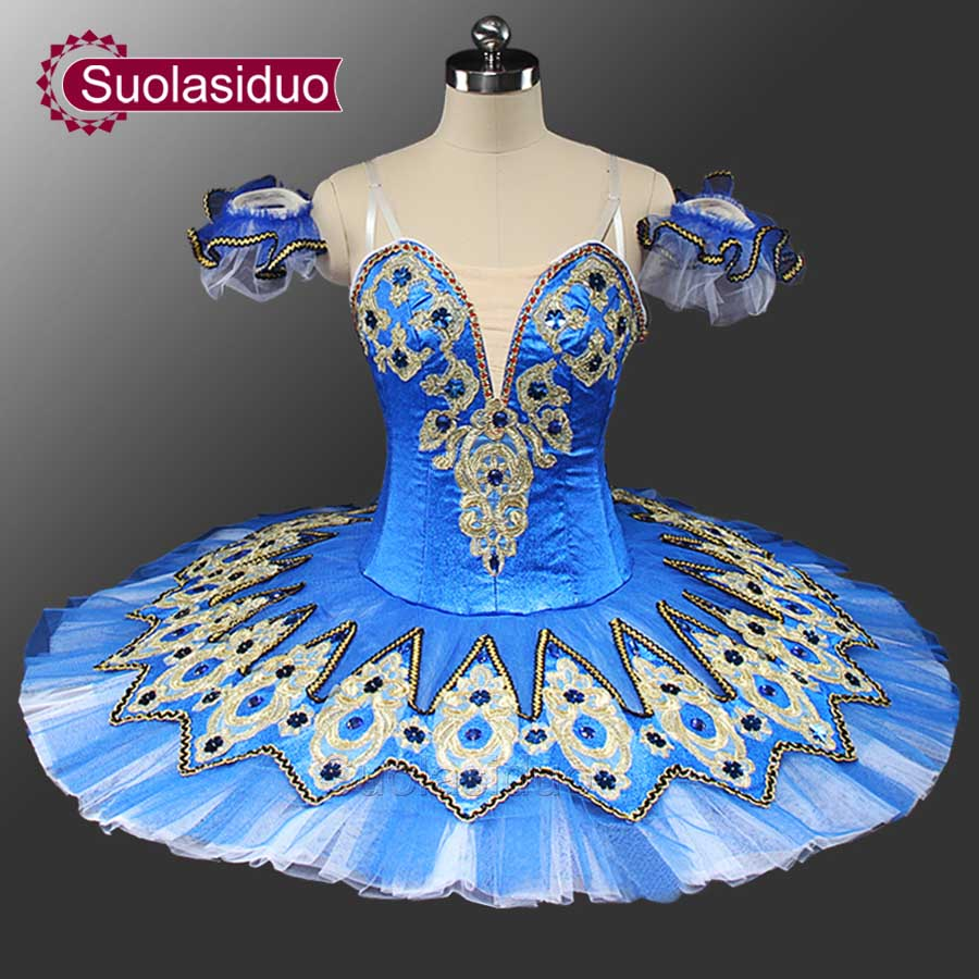 Gold Classical Tutu Ballet Professional Costume Tutu Adult Competition Ballet Tutus Costume SD0041 in Ballet from Novelty Special Use