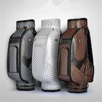 PGM подлинный Гольф сумка Для мужчин и Для женщин в Стандартный Вышивка Крестом Пакет PU Гольф сумка может вместить полный набор британский С