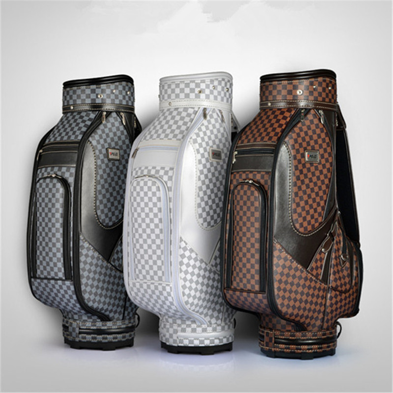 цена на Pgm Authentic Golf Bag Men And Women The Standard Package Pu Golf Bag Can Hold A Full Set Of British-style Bar