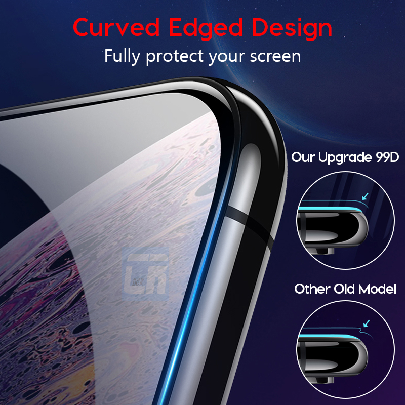Image 2 - 99D Curved Edge Protective Glass on the for iPhone X 8 7 6S Plus Cover Tempered Glass for iPhone XS MAX XR Screen Protector Film-in Phone Screen Protectors from Cellphones & Telecommunications