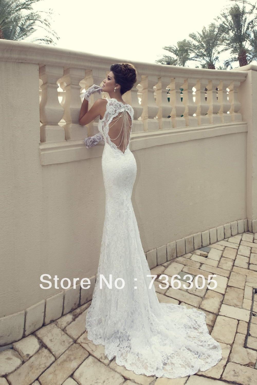 Lh7862 white sweetheart neckline slim fit sexy spaghetti for Slim white wedding dresses