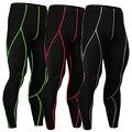 Calças De Compressão para Os Homens dos homens de Cor Pura Longas Leggings para o MMA Rashguard Musculação Respirável Quick Dry Calças Corredores