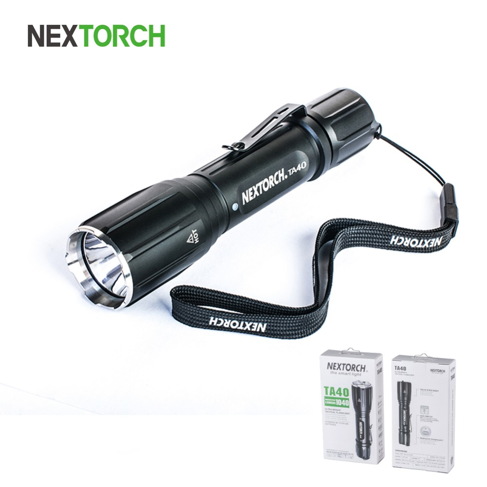 NEXOTRCH Flashlight 18650 Battery 1040 Lumen Waterproof Rechargeable Shockproof Tactical LED Flashlight Torch for Hunting#TA40