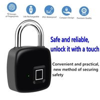 Smart lock Fingerprint Lock door lock IP65 Waterproof Anti Theft Security Padlock Door Luggage Case Lock Safe and reliable p3