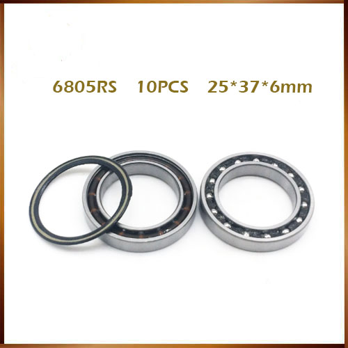 Free Shipping 6805rs bearing steel hybrid ceramic ball bearing 6805n <font><b>rs</b></font> 25*37*6mm bicycle hubs 6805N-2RS 6805n 2rs mr25376 2rs image