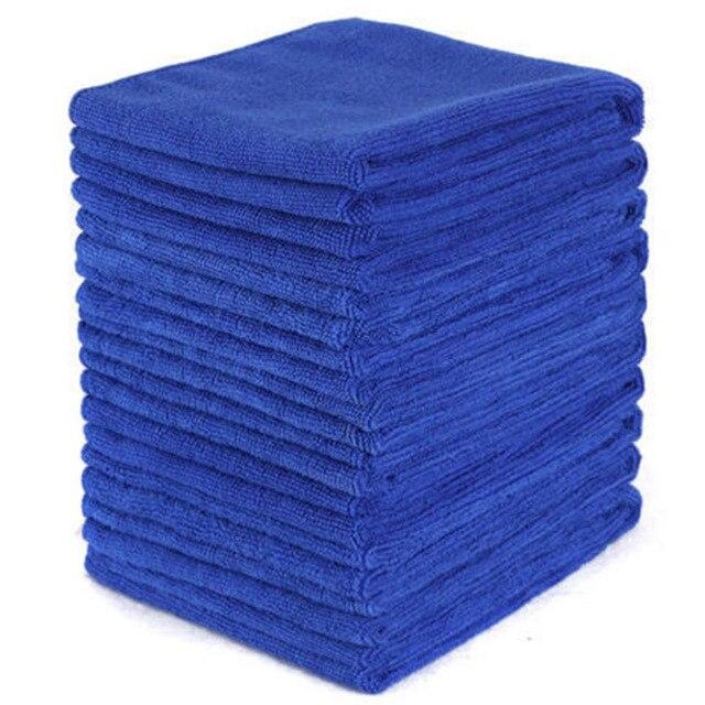 Голубое полотенце из микрофибры для чистки 10 шт, мягкая ткань для мытья, полотенце для мытья, 30*30 см, полотенца для чистки автомобиля и дома, микроволокно