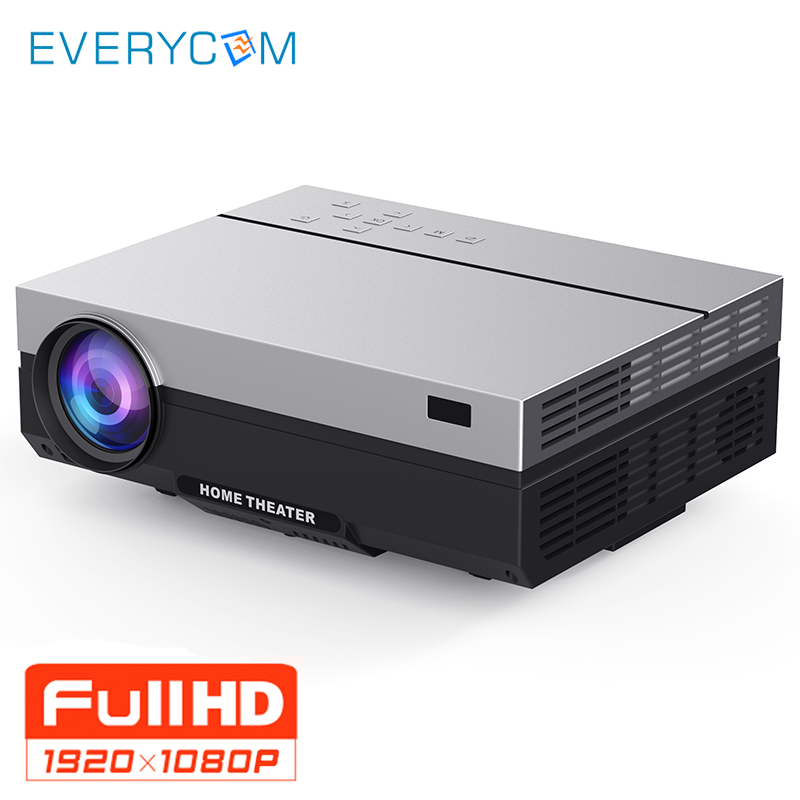 Everycom Full HD Projector 1920x1080P T26K Projector Portable 5500Lumens HDMI Beamer Video Proyector LED Home Theater