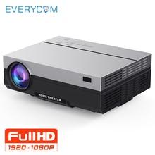 Everycom проектор Full HD 1920×1080 P T26K проектор Портативный 5500 люмен HDMI проектор видеопроектор светодиодный дома театральный фильм