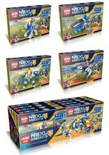 4pcs/lot LEPIN 14013 Nexus Knights Building Block Minifigures Compatible for kids birthday gifts
