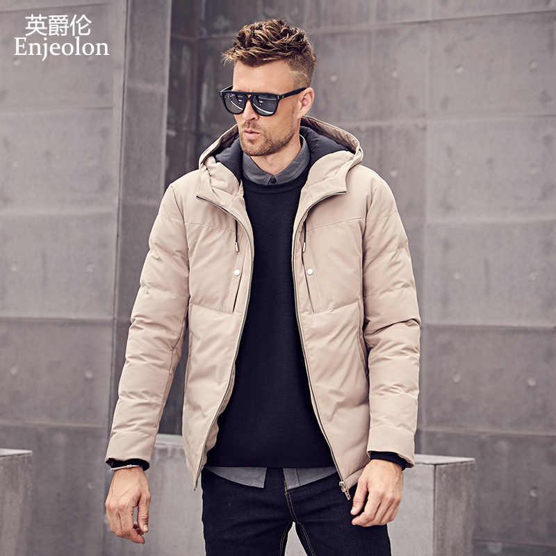 Enjeolon marca invierno algodón acolchado hoodies chaqueta hombres grueso con capucha Parka abrigo masculino acolchado chaqueta de invierno abrigo 3XL MF0723