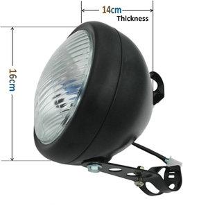 Image 5 - Chrom czarny Cafe wyścig z przodu głowy światło dekoracyjne światła zmodyfikowany motocykl światła reflektor motocykl w stylu Vintage