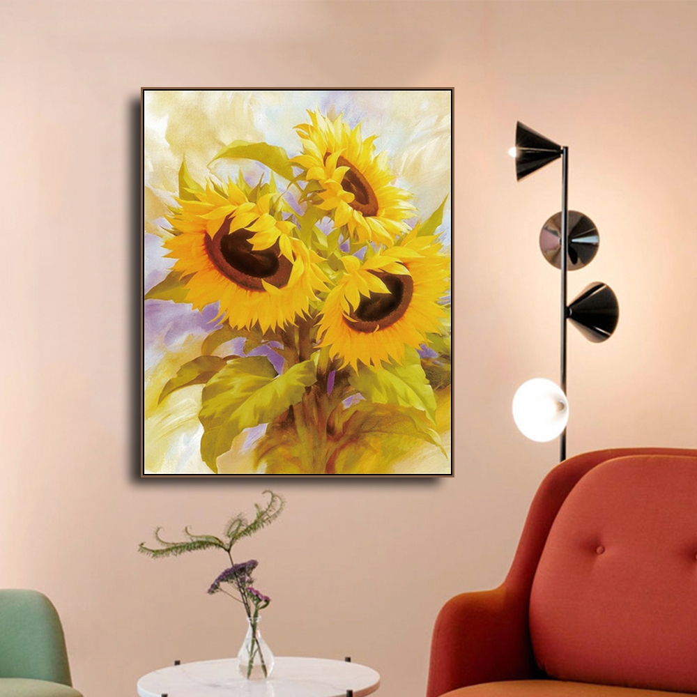 Sunflowers HD Picture Decor Canvas Painting Calligraphy Decoration Printings Pictures For House Living Room Bedroom Wall Art in Painting Calligraphy from Home Garden