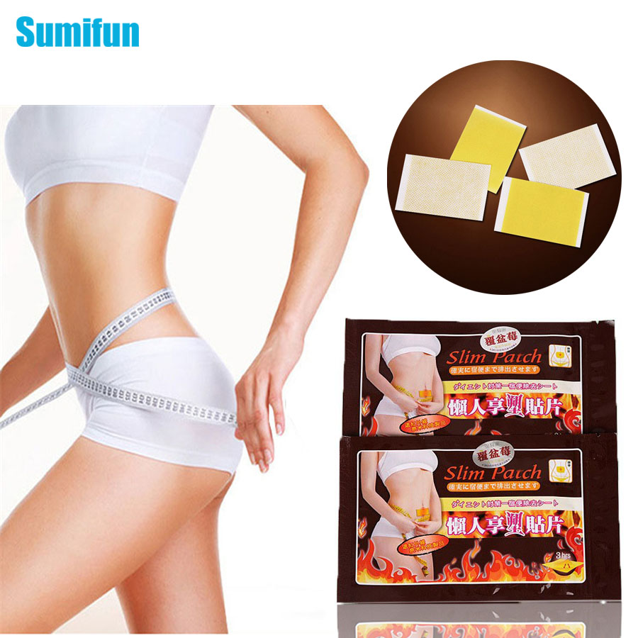 Top related Seller! 50 pcs(1 bag=10 pcs)Slimming Cream Navel Stick Slim Patch Weight Loss Burning Health Care free shipping C054