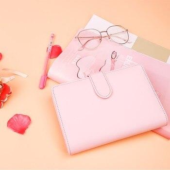 Macarons PU Notebook Organizer Planner Ring Binder Weekly Planner Agenda Diary Bullet Journal Notebook Kawaii 1