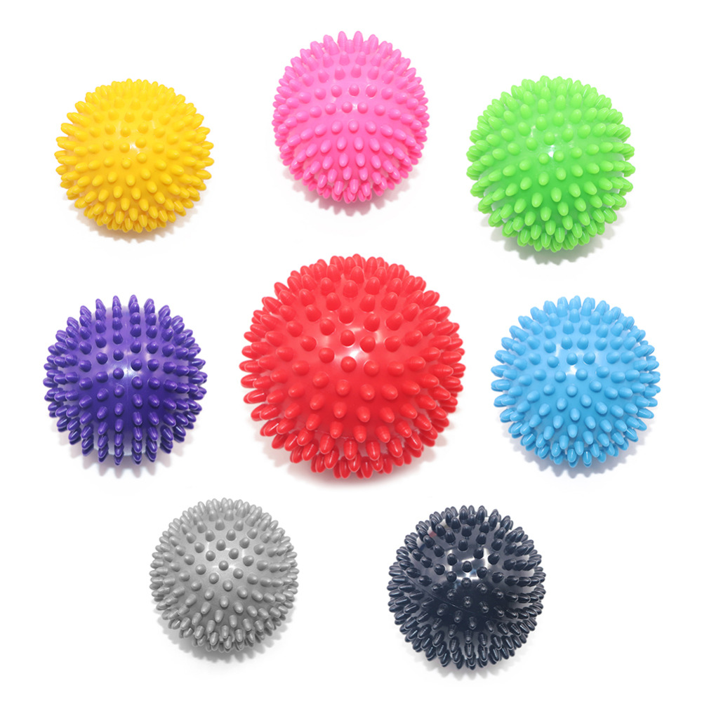 Massage Ball Spiky Yoga Gym Ball Trigger Point Stress Relief 7.5cm 9cm Portable Muscle Relaxation Pelvic Exercise Sports Fitness