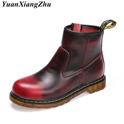 Genuine Leather Boots Women Doc Martins Botas Mujer Plus Size Shoes Woman Ankle Boots Dr Martins Winter Boots Ladies Booties New