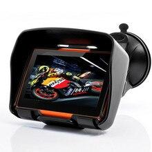 Горячая продажа 4.3 Дюймов 8 ГБ 128/256 RAM IPX7 Водонепроницаемый Moto Bluetooth GPS Навигатор для Мотоцикла Мотоцикл Автомобиль + Кронштейн бесплатные Карты