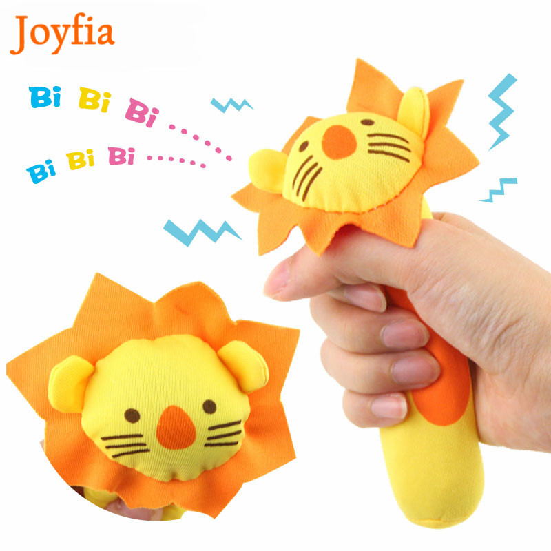 Soft Baby Plush Toy Cartoon Animal Teether Rattle Squeaker BB Sounder Early Educational Toys Brinquedos Juguetes For Newborn #