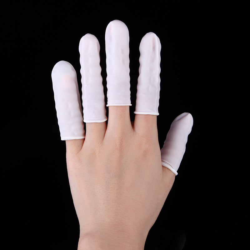 100pcs Rubber Latex Finger Cots Glove for Makeup Eyebrow Eyelash Extension Practical Disposable Anti Static Off Tool Accessories