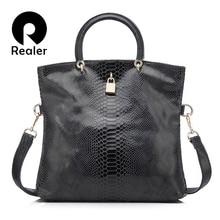 Realer woman handbag Genuine Leather Bags Female Snake Pattern Tote Ba