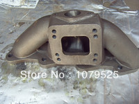 cast iron turbo manifold for Nissan 240SX S13 S14 KA24DE cast iron turbo manifold T3 T4 flange
