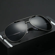 LUFF Brand Designer 2017 New Men's Toad Mirror Retro Polarized Sunglasses Metal Frame Driving Sunglasses SN8009